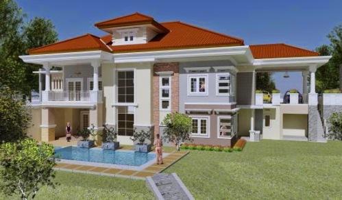 530+ Gambar Desain Rumah 2 Lantai Ada Kolam Renang Paling Keren Unduh