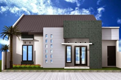 Kombinasi Warna Cat Rumah Biru Tampak Depan  warna cat rumah yang bagus menurut islam rumah minimalis