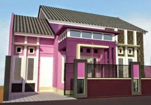 Rumah Minimalis Lantai 2 Nuansa Ungu  warna cat rumah yang bagus menurut islam rumah minimalis